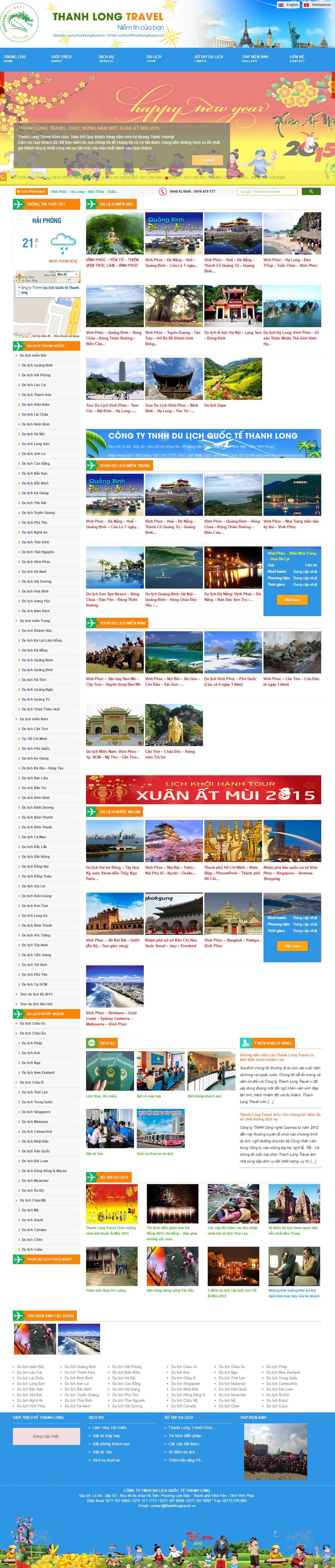Giao diện Trang Thanhlongtravel.vn
