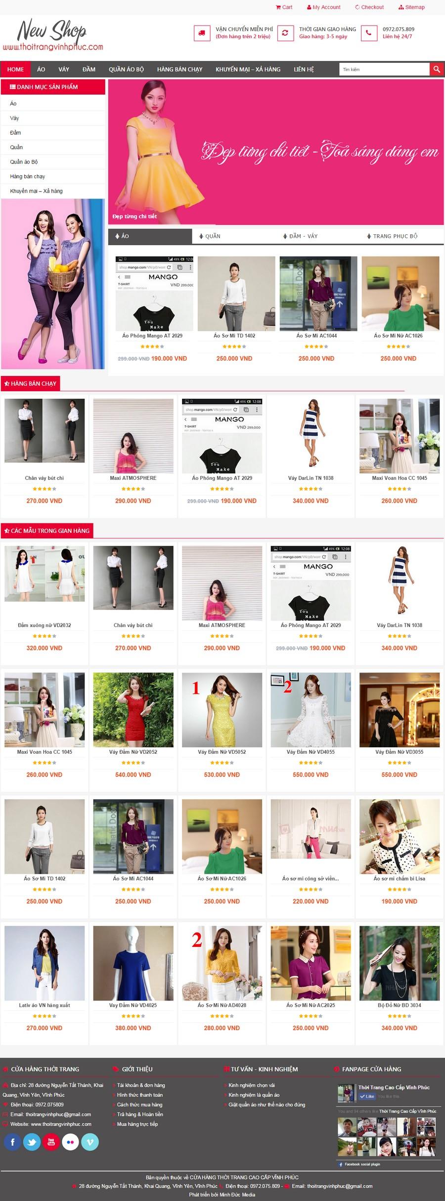 Web Shop thoitrangvinhphuc.com