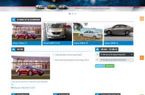 Mẫu web ô tô Nissan